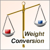 Weight conversion tool